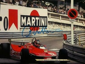 GILLES VILLENEUVE FERRARI ORIGINALLY SIGNED 6 X 8 PHOTO F1