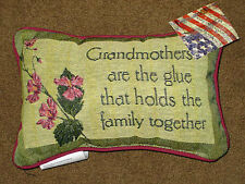 Grandmothers Are The Glue That Holds The Family Together Tapestry Word Pillow