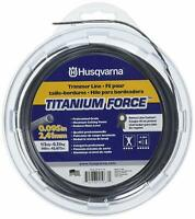 Husqvarna 639005102 Titanium Force String Trimmer Line .095-Inch by 1/2 Pound