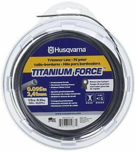 Husqvarna 639005102 Titanium Force String Trimmer Line .095-Inch by 1/2 Pound
