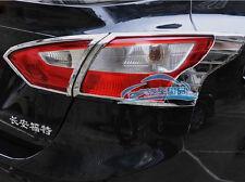 ABS Chrome Tail Light lamp Cover Trim For Ford Focus sedan 2012-2013 New