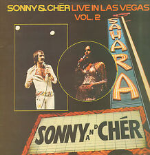 SONNY & CHER ‎– Live In Las Vegas Vol.2 (RARE 1973 2-LP DUTCH WHITE LABEL)
