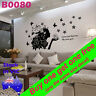 Rose Girl Butterfly Wall Decal Sticker office School shop home room decor B0080