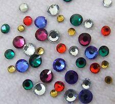40 DMC Gems Mixed Joblot Iron On Hotfix Rhinestone SS30=6.5 mm Card/Shoe/Handbag