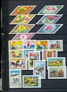 Mongolia 1975/77 Flowers Wildlife Sport Air Cars MNH(Apprx 170 Items)Tro660