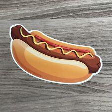 """Hot Dog 4"""" Wide Vinyl Sticker - Bogo"""