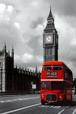 Big Ben London Red Bus Wall Art Print Poster Modern Home Room Decoration