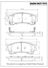 Disc Brake Pad Set-Rear Disc Front Dash 4 Brake CD637