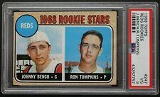 Johnny Bench HOF Tompkins 1968 Rookie Stars Topps #247 Graded ROOKIE Card PSA 3