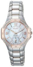 Women's Seiko SRKZ88 Coutura Mother of Pearl Dial Two Tone Bracelet Watch