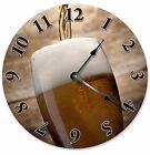 "BEER GLASS CLOCK - Large 10.5"" Wall Clock - 2065"