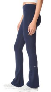 Splits 59 Raquel Flared Leg Performance Leggings Navy Blue Indigo Size Small