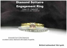Solitaire Excellent Cut Yellow Gold VS1 Fine Diamond Rings