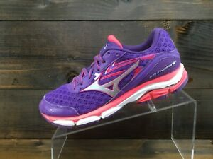 Mizuno Wave Inspire 12 Womens Purple Running Casual Shoes Ladies 8 Excellent