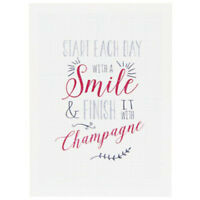 Start Each Day With A Smile Tea Towel