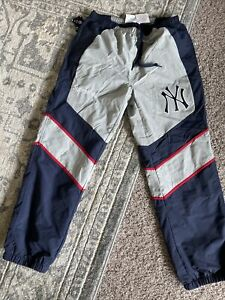 Supreme x New York Yankees Track Pants Navy | Size Small, Ships Today In Hand!
