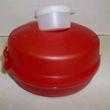 New listing New old stock Red Tupperware Round Salad or Sandwich Container - Never Used