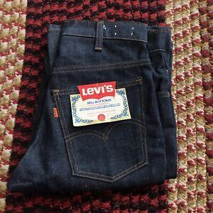 Vintage Deadstock 1970s Levi's 646 0217 bell bottom jeans - orange tab - 30x33