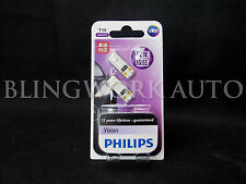 (PAIR) PHILIPS T10 W5W VISION LED 6000K Pure White REGO Light Parker White Bulb
