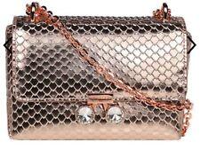 Ted Baker Women's Rose Gold Metallic Leather Arfen Snake Mini Crossbody Bag