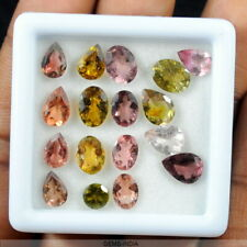 17 Pc Natural Sparkling Multi Color Tourmaline Mixed Cut Certified Gemstones Lot