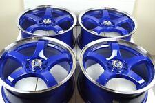 17 blue Wheels Rims Accord Sonata Elantra Eclipse Neon Fusion Vibe 5x100 5x114.3