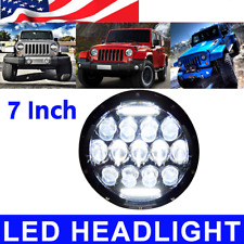 CREE LED 7 Inch Round Projector Headlights 78W Housing Low/High H6024 H6012 1X