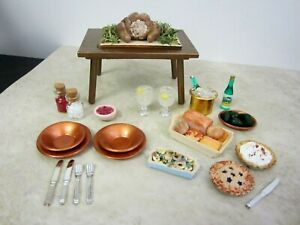 """DISHES, FOOD, MINIATURES FOR 11-1/2"""" DOLLS, DOLLHOUSE OR COLLECTORS,  #15a"""