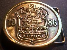 Suzuki Cavalcade Belt Buckle 1986 Vintage Motorcycle~Bike~Biker~Solid Brass