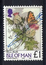 ISLE OF MAN = 1998 £1 Flowers `Spear Thistle`. SG785. Very Fine Used. (b)