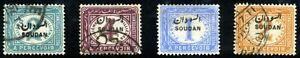 Sudan. 1897. 2m~2p. SC# J1,2,3,4. MH~ Used
