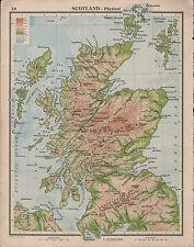 1939 MAP ~ SCOTLAND GRAMPIAN MOUNTAINS SOUTHERN UPLANDS SHETLAND ORKNEY