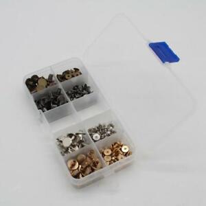 100x Gürtelschrauben Set Buchschrauben Gürtel Schrauben, Zinklegierung, Kopf