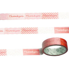 Thank You Washi Tape 15mmx7M-Gift Wrapping Birthday Baby Shower Wedding Craft