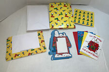 New ListingSnoopy Woodstock Peanuts Christmas Stationary Cards & Stickers Giftco 2005