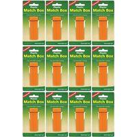 Coghlan's Plastic Match Box Orange Waterproof Case w/Flint Striker (12-Pack)