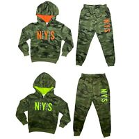 Boys Kids Tracksuit Camouflage Hoodie Joggers Jogging Bottoms Camo Outfit Set