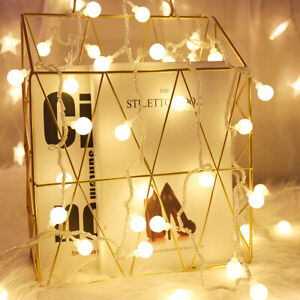 LED Warmweiß Lichterkette 10 m 100 Kugel Stimmungslichter Weihnachten Party