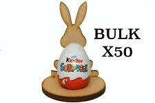 Wooden MDF Easter Rabbit Craft Kinder Egg Holder Stand Easter Gift BULK x50