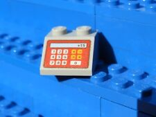 LEGO Light Bluish Gray Slope 45 2 x 2 with Red Cash Register and '+15' Pattern