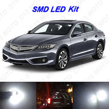 10x White LED Interior Bulbs + License Plate Lights for 2013-2016 2017 Acura ILX