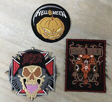 Slayer, Helloween, Dimmu Borgir Patches