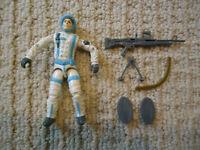 Vintage GI Joe Sub Zero (V1) 1990 Hasbro Action Figure Winter w/Gun, Snowshoes