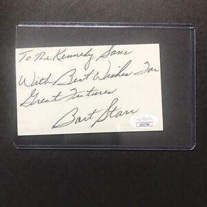 Bart Starr GREEN BAY PACKERS Signed Autographed 3x5 Index Card JSA CERTIFIED