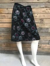 WHITE STUFF Ladies Green/Teal Cotton Blend Floral Casual Boho Skirt Size 10