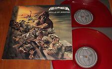 HELLOWEEN WALLS OF JERICHO 2x LP *RARE* COLORED RED VINYL BOB PRESS UK LTD New
