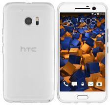 mumbi Hülle für HTC 10 Schutzhülle transp. weiss Case Tasche Cover Schutztasche