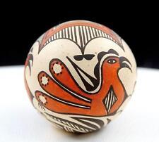"New listing Wanda Aragon Signed Dzinats' Tuwits'A Acoma Pottery Polychrome 1 3/4"" Seed Pot"