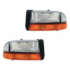 Dodge Durango Dakota Headlights Headlamps W Signal Light Pair Set Left & Right
