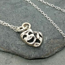 Drama Comedy Tragedy Necklace - 925 Sterling Silver - Theatre Mask Charm NEW